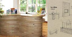 Blocco è un mattone in legno. Si tratta di un prodotto dalla forma lineare; è modulare, perché è possibile assemblarlo per dar vita a composizioni diverse; è ecologico perché si monta a secco senza l'ausilio di colle o malte e perché il legno impiegato proviene rigorosamente da foreste certificate. Blocco rappresenta una vera rivoluzione nel campo dell'arredamento.  LEGGI IL POST ---> http://www.architetturaecosostenibile.it/materiali/legno/blocco-mattone-legno-arredo-ecologico-410.html