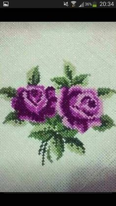 This Pin was discovered by Emi Hand Embroidery Flowers, Ribbon Embroidery, Cross Stitch Embroidery, Embroidery Patterns, Cross Stitch Heart, Cross Stitch Flowers, Cross Stitch Designs, Cross Stitch Patterns, Christmas Cross