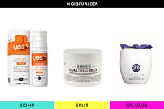 The Best Beautifiers For EVERY Budget #refinery29  http://www.refinery29.com/56660#slide2  Skimp: Yes To Carrots Daily Facial Moisturizer SPF 15This back-to-basics moisturizer gives you everything your skin needs — sunscreen, nourishing ingredients, and lightweight hydration — without the hefty price tag.Split: Kiehl's Ultra Facial CreamThe proverbial work horse of the moisturizer world, this unisex hydrator is a perennial favorite around the R29 offices for its skin-smoothing and hydrating…