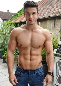 Male Model, Good Looking, Beautiful Man, Handsome, Hot, Sexy, Eye Candy, Beard, Muscle, Hunk, Abs, Six Pack, Shirtless 男性モデル