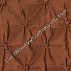 """Zenith in Rust orange color: puckered fabric with pin tucks : faux taffeta silk fabric : 84"""", 96"""" and extra long 108"""" inch and 120"""" length: grommets or back-tabs and rod pocket, lined/interlining : scarf swag and fabric by the yard for custom window treatments"""