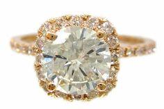 KNRINC Rose gold diamond engagement ring