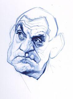 Lino Ventura sketch - le blog theb