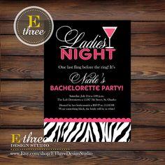 Printable Bachelorette Party Invitation  Hot by EThreeDesignStudio