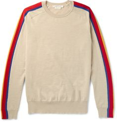 Marc Jacobs Panelled Virgin Wool-Blend Sweater from Mr. Porter #MarcJacobs #MrPorter