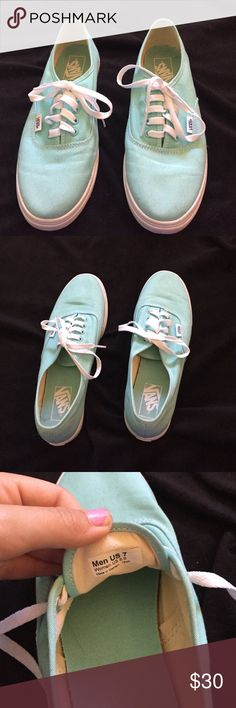Mint green vans! NEVER WORN!! Perfect condition! Just recently bought! FEEL FREE TO OFFER! I ACCEPT MOST OFFERS! Vans Shoes Sneakers