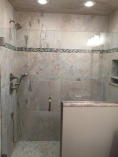 New tiled shower in this renovated bathroom space in East Lyme CT www.shawremodeling.com #beforeandafter #remodeling #eastlyme #bathroom #renovation