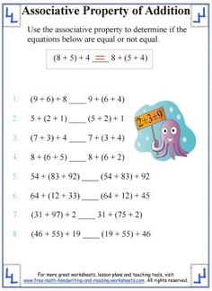 Identity Property - Worksheets & Lesson | math | Pinterest ...