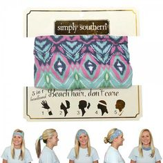 Simply Southern Preppy Collection Aztec Headband and Accessory HEADBAND-AZTEC