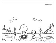 snoopy-and-charlie-brown-coloring-pages | smilecoloring.com All kinds of great coloring pages!