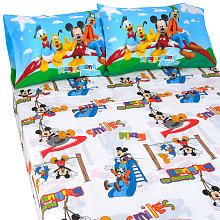 Too bad it isn't in Toddler bed size :(   Disney Mickey Mouse Clubhouse 3-Piece Twin Sheet Set
