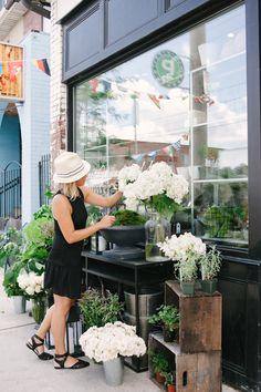 Flower shop.