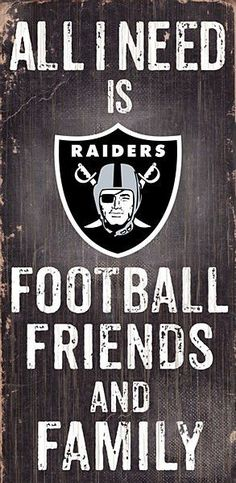 Raiders Football, Friends & Family Sign #454
