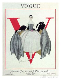 Vogue Cover - September 1920 Premium giclée print van Georges Lepape bij AllPosters.nl