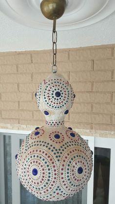 Lamb Craft, Diy And Crafts, Arts And Crafts, Gourd Lamp, Wooden Lamp, Pebble Art, Mandala Art, Lamp Design, Gourds