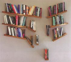 And this deconstructed shelf that's just gorgeous chaos. | 24 Times Bookshelf Porn Was Just So Fucking Hot
