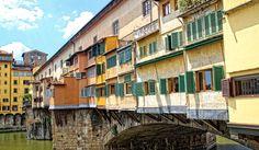"""Firenze - Rückfronten der Läden auf der """"Ponte Vecchio"""""""