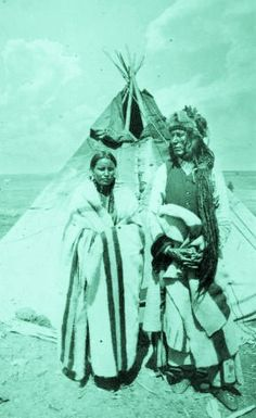 POUNDMAKER AND HIS WIFE , 1885
