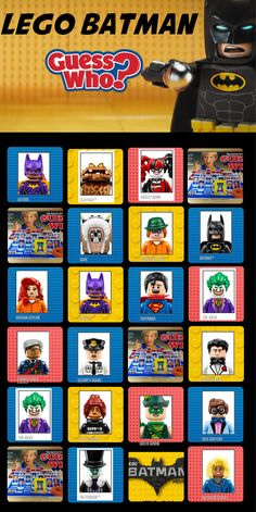 Revive an old family favorite with these new Guess Who? cards with the characters from Lego Batman