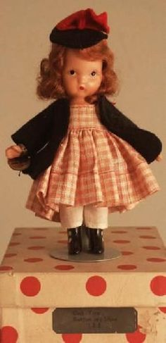 "Nancy Ann storybook doll  ""one, two, buckle my shoe"":"