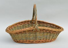 willow garden basket by Katherine Lewis at dunbargardens.com Willow Garden, Garden Basket, Fiber Art, Anniversary Gifts, Weaving, Baskets, Crafts, Vase, Album