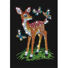 Sequin sewing deer