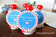 """Ten June: Valentine's Day Card Free Printable for Toddlers: My """"Main Squeeze!"""" #toddler #craft #DIY #vday #valentinesday #squeezepouch #healthy #printable #free"""