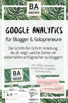 Du weißt, dass Google Analytics für deinen Blog oder deine Website wichtig ist - aber nicht worauf es ankommt? Hier ist die Schritt-für-Schritt Anleitung die dir zeigt wo du was findest!   Hacks und Tipps für Blogger um deinen Blog erfolgreich zu machen