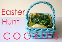 Easter Hunt Cookies – eggs in the grass   MADE