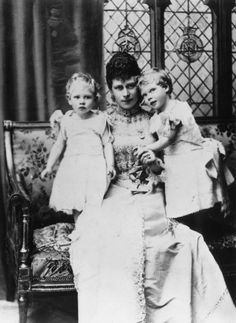 Mary with her two eldest children.
