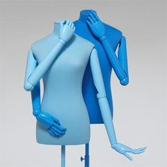 "HANS BOODT MANNEQUINS, ""Mr.Blue and Miss Light Blue"",pinned by Ton van der Veer"