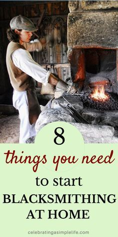Start blacksmithing at home - this post will tell you what you need to get started!