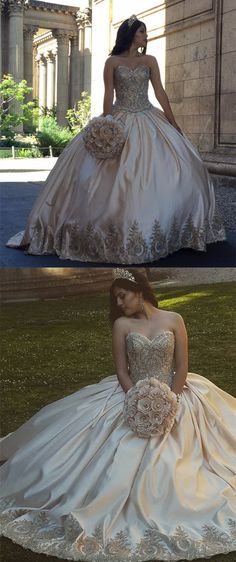 gold quinceanera ball gowns dresses for sweet 16 birthday