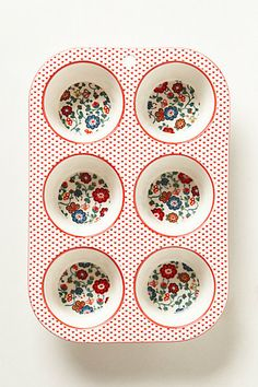 Filomena Muffin Pan #anthropologie this would be so cute to use for condiments for outdoor dining