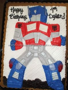 Hey Mandy, this would be a cute cake for Chasey if he's still into transformers :)