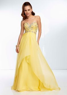 Graceful Chiffon Sweetheart Neckline Floor-length A-line Prom Dress maysale