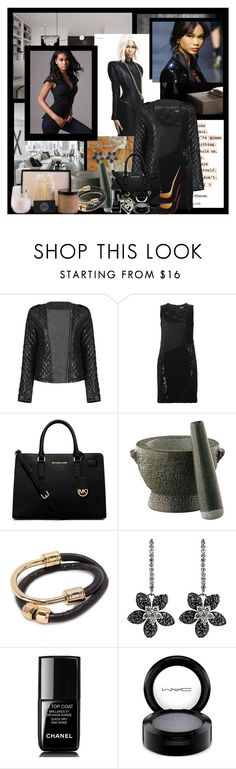 """""""Color the Night Sky with Your Life's Successes"""" by jakenpink ❤ liked on Polyvore featuring DKNY, Michael Kors, Frieling, Trina Turk, Chanel, MAC Cosmetics and Christian Louboutin"""