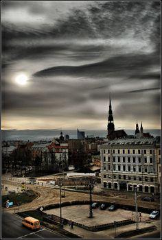 Riga - Latvia beautiful skyline