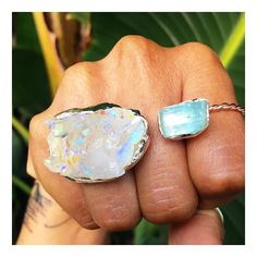 Pow! The dreamy calming vibes from this floating two stone ring are all you need to one-two this Monday right in the kisser. By Mouré
