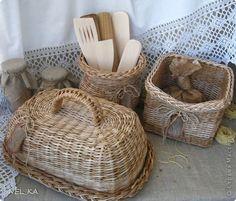 Поделка изделие Плетение Набор для кухни  Пшеничный аромат  Бумага газетная Трубочки бумажные фото 20