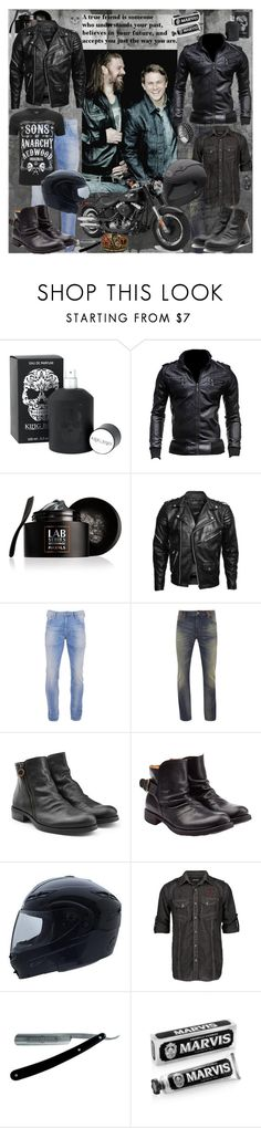 """""""SoA"""" by sasane ❤ liked on Polyvore featuring King Baby Studio, Lab Series, VIPARO, Scotch & Soda, Superdry, Fiorentini + Baker, Affliction, Harley-Davidson, John Hardy and men's fashion"""