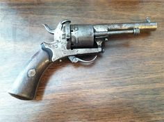 Antique Belgium Made 7mm Pinfire Revolver Pistol : Antique Guns at GunBroker.com