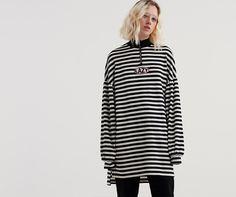 Lazy Oaf Zip Up Stripey Sweatshirt