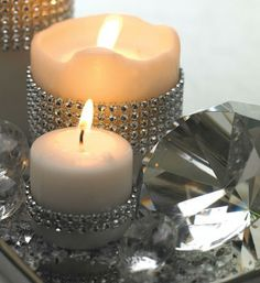 wrap candle in diamond wrap