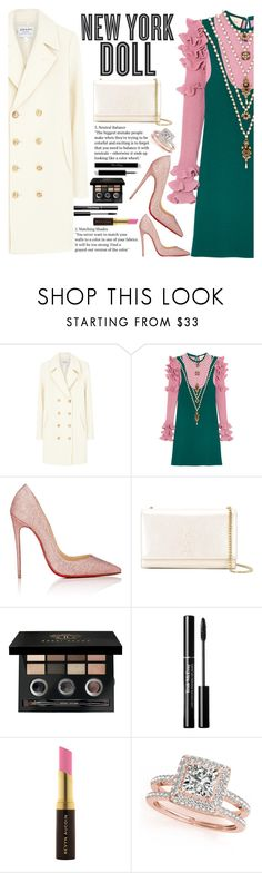 """""""Untitled #2169"""" by anarita11 ❤ liked on Polyvore featuring Frame, Gucci, Hemingway, Christian Louboutin, Yves Saint Laurent, Bobbi Brown Cosmetics, Kevyn Aucoin and Allurez"""