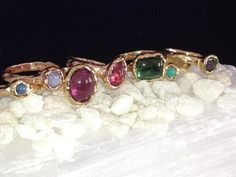these #tourmaline #rings by Ashley Morgan Designs in #SanFran #jewels #gold