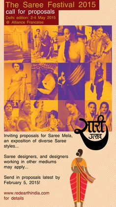Red Earth » The Saree Festival 2015, Delhi – Call for proposals - http://redearthindia.com/events/forthcoming/the-saree-festival-2015-delhi-call-for-proposals