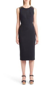 Main Image - Dolce&Gabbana Cross Back Sheath Dress