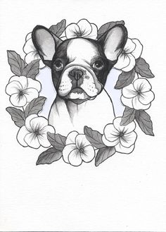 Make one special photo charms for your pets, 100% compatible with your Pandora bracelets. French Bulldog Tattoo Design , Frenchie Tattoo Design , sketchbook page by Jeroen Teunen , the Dog Painter.