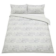 BuyJohn Lewis Nordic Houses Duvet Cover and Pillowcase Set, Single Online at johnlewis.com